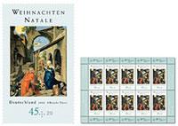 Weihnachtsmarke - Dürer, Geburt Christi