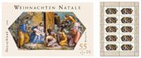Weihnachtsmarke - Raffaello, Anbetung der Könige