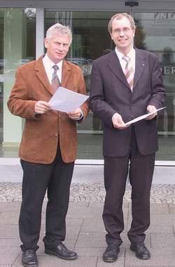 Foto: Kreis Paderborn - Landrat Manfred Müller und Friedhelm Hüwel