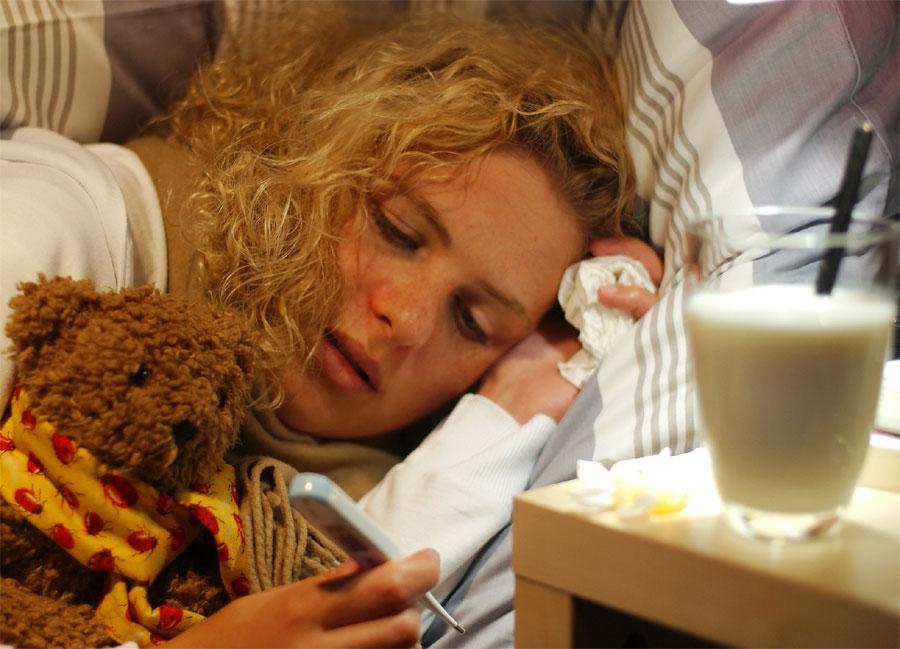 schlafen bei erkältung