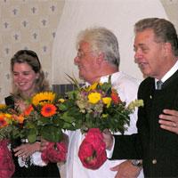 Melanie Birgelen, Architekt Wolfgang Spieß und Joachim Merkel