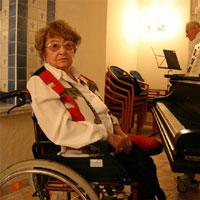 Draga Matkovic im Blauen Salon Seniorenzentrums Domus Mea