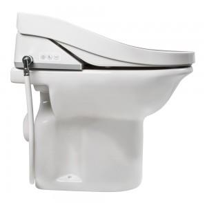 Per Knopfdruck lässt sich der Dusch-WC-Aufsatz spielend einfach bedienen.